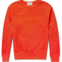 Bnwt Acne Studios 'College Loopback Cotton Jersey Sweatshirt' Orange Jumper Xs Photo