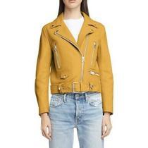 Bnwt Acne Studios Mock Sunflower Yellow Leather Moto Biker Jacket Coat Size 38 Photo