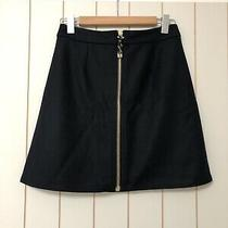 Bnwt Acne Studios Prisca Navy Wool Mini Skirt Zip Detail Size 38 Photo