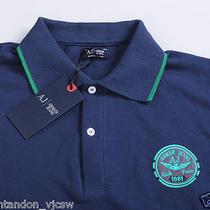 Bnwt Armani Jeans Men's Graphite Polo T-Shirt Size Xl Photo