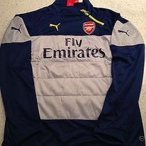 Bnwt Arsenal 2014-2015 Premier League Training Top. Size Medium Outstanding  Photo