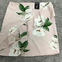 Bnwt Atmosphere Blush Nud Pink Floral Ruffle Detail Mini Skirt Size 8 Photo