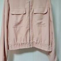 Bnwt Autograph  Blush Pink Lined Floppy Fabric Summer Jacket Sz 14  Photo