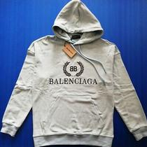 Bnwt Balenciaga Mens Ligth Blue Hoodie Sweatshirt Size L Photo