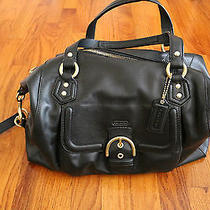 Bnwt Black Coach Campbell Leather Satchel Photo