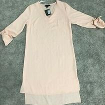 Bnwt Blush Dress With Turn Up Sleeves Size 6/8 Photo