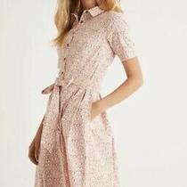 Bnwt Boden Anastasia Shirt Dress Sz 8 L Milkshake Lunettes Pattern Blush Pink Photo