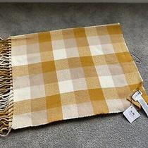 Bnwt Coach Yellow and Cream Checked Scarf Wrap Rrp215 Photo
