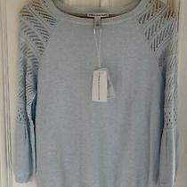 Bnwt Cotton by Autumn Cashmere Baby Blue Top Size M Photo