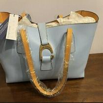 Bnwt Dooney & Bourke Emerson Leather Tote Handbag- Shannon Caribbean Blue Photo