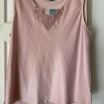 Bnwt Dunnes Stores Ladies 22 Blush Pink Satiny Canisole Vest Top Detailed Neck Photo