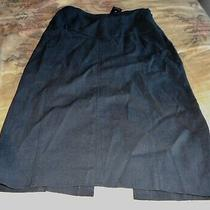 Bnwt Express Design Studio Woman's  Black Below Knee Pencil Skirt Size 2  Photo