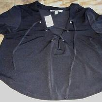Bnwt Express Woman's One Eleven Black Crop Top Size Xs Photo