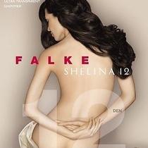 Bnwt Falke Shelina 12 Denier Ultra Transparent Tights With Shimmer M Black  Photo