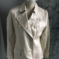 Bnwt Gap Cream Double Breasted Jacket Size Small Petite Photo