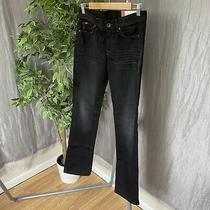 Bnwt Gas Jeans Ladies Dark Denim Christy Size 8  Black 26 Waist 34 Leg Jeans  Photo