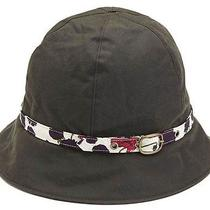 Bnwt & Gift Bag Barbour Ladies Wax Cloche Hat Olive Size Med Morris Print Trim  Photo