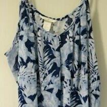 Bnwt h&m Blue Floral Top Size S / 4-6 Photo