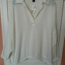 Bnwt h&m Ladies Loose Fitting Ivory Blouse Size 12 Photo