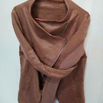 Bnwt h&m Uk 10 Brown Suedette Little Blazer Jacket Photo