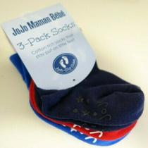 Bnwt Jojo Maman Bebe 3-Pack Socks Size 0-6 Monrh Photo