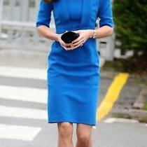 Bnwt L K Bennett Blue Snorkel Dress Aso Kate Middleton Us 2 Photo