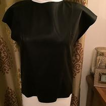 Bnwt Ladies Boss Black Leather Top Size Uk 8 Photo