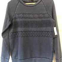 Bnwt Ladies Gap Sweatshirt Jumper Size Small Fits Uk 10 Blue With Crochet Detail Photo