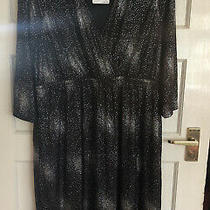 Bnwt Ladies Jojo Mamen Bebe Black & Silver Shimmer Twist Maternity Dress Size L Photo
