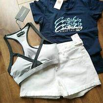 Bnwt Ladies Summer Sports Clothes Shorts T-Shirt & Gym Crop Bra Bundle Size 8 Photo