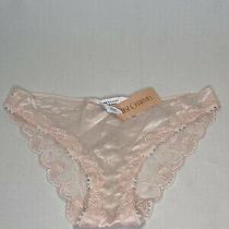 Bnwt Lise Charmel Blush Pink Lace Silk Brief Sz Xl Feminte Dentelle Eur Sz 44 Photo