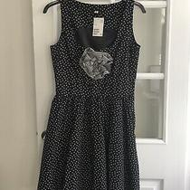 Bnwt Lovely Ladies Black & White Polka Dot Dress Sz 12 h&m Photo