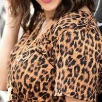 Bnwt Lularoe Christy T-Shirt T Top Animal Print Cheetah Plus Size 3xl 24 - 26 Photo