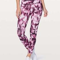 Bnwt Lululemon Blush Blossom Alpine White Candy Pink Train Times 7/8 Pant Size 8 Photo