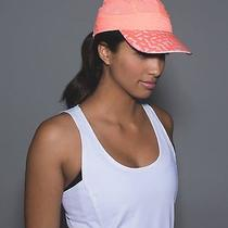Bnwt Lululemon Race to Win Run Hat Mesh Grapefruit/net Pop Blush Quartz Grap O/s Photo