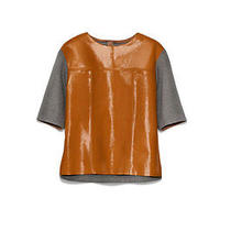 Bnwt Marni h&m Patent Real Leather Top Jumper Uk 10 as Seen in Vogue & Dustbag Photo