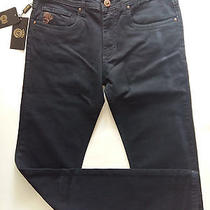 Bnwt Men's Versace Dark Blue Jeans Size 34 Prp 987 Photo
