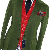 Bnwt Mens Ralph Lauren Sartorial Style Sports Olive Green Suit Jacket Blazer 44r Photo