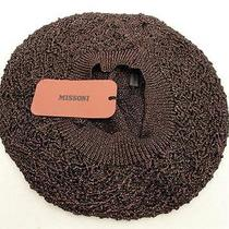 Bnwt Missoni Brown Knitted Beret Hat One Size Photo