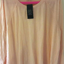 Bnwt/new m&s Marks Blush-Pink 100% Cotton Raglan Sleeve T Shirt Top Size 24 Photo