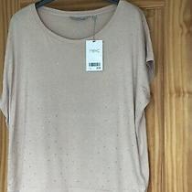 Bnwt Next Ladies Blush Sequinned Tshirt Size 12 Rrp 18. Photo