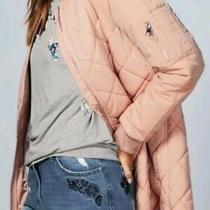 Bnwt  Next Size 6 Ladies Blush Pink Quilted Bomber Jacket 60 New Photo