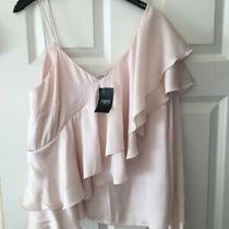 Bnwt Next Sz 18 Beautiful Summer  Blush Pink Frill Top Blouse New Rrp 28 Photo