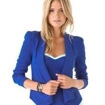 Bnwt Rebecca Minkoff Cobalt Blue Becky Blazer Photo