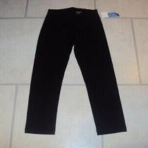 Bnwt Simply Vera (Vera Wang) Black Cotton Capri Leggings Size Xs  Photo