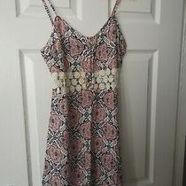 Bnwt Summer Slip Dress Floral Crochet Spaghetti Straps Size 8 Photo