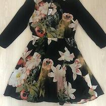 Bnwt Ted Baker Black Mix Opulent Bloom Shirt Skater Dress Size 1 Uk 8 Rrp 159 Photo
