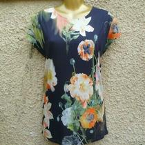 Bnwt Ted Baker Opulent Bloom Floral Print T-Shirt Top Size 2 Photo