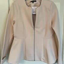 Bnwt Topshop Blush Peach Zip Front Jacket Super Soft and Stretchy Size 16t Photo