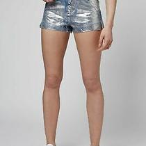 Bnwt Topshop Moto High Waisted Metallic Denim Mom Shorts Size 8 Rrp 30 Sold Out Photo